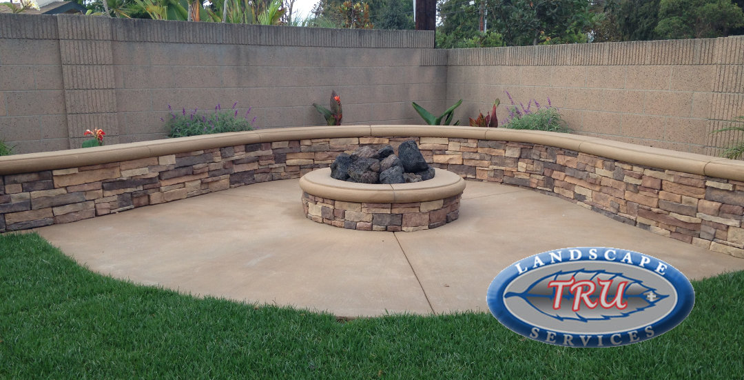 Custom Patio Cover and Fire Pit - Orange County Landscape ...