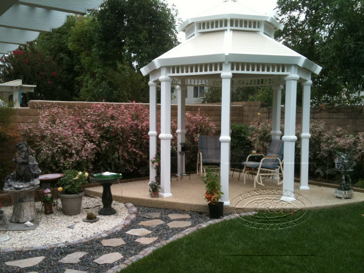 Orange County Landscape Gazebo Installation