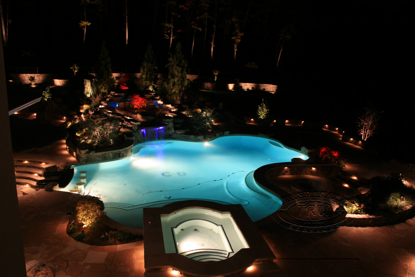 low voltage lighting landscape led lighting tru landscape services