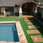 Concrete and Turf Backyard