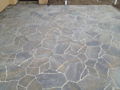 Flagstone Patio Area - Orange County Interlocking Paving Pavers Installation |TRU Landscape