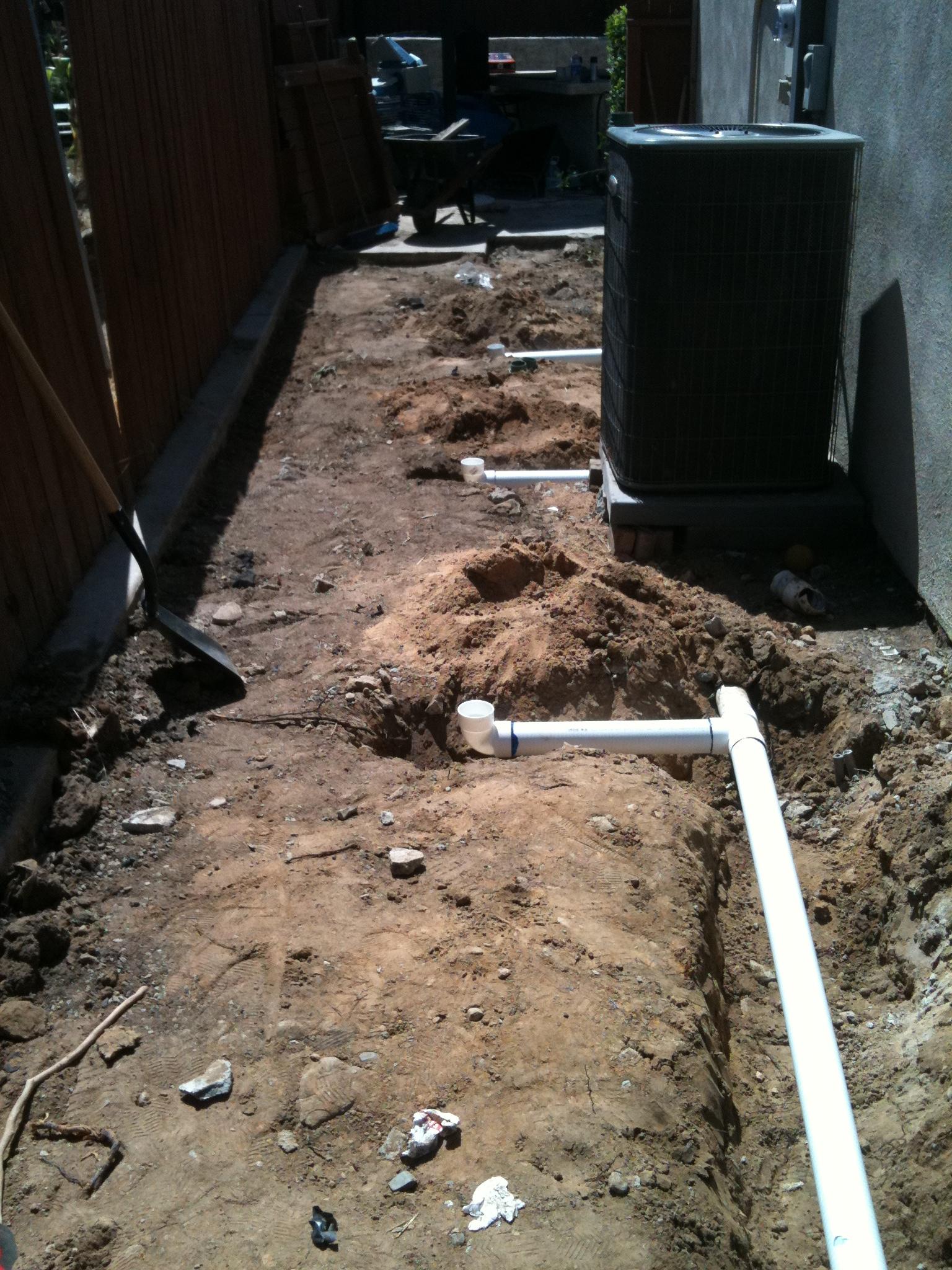 Orange County Drain System Installation