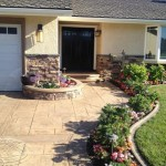 Stamped Concrete Driveway and Front Yard