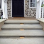 Concrete Bullnose Steps with Underlights