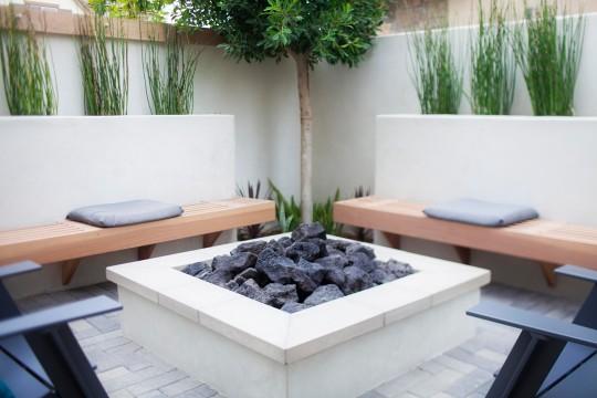 Modern landscape Fire Pit