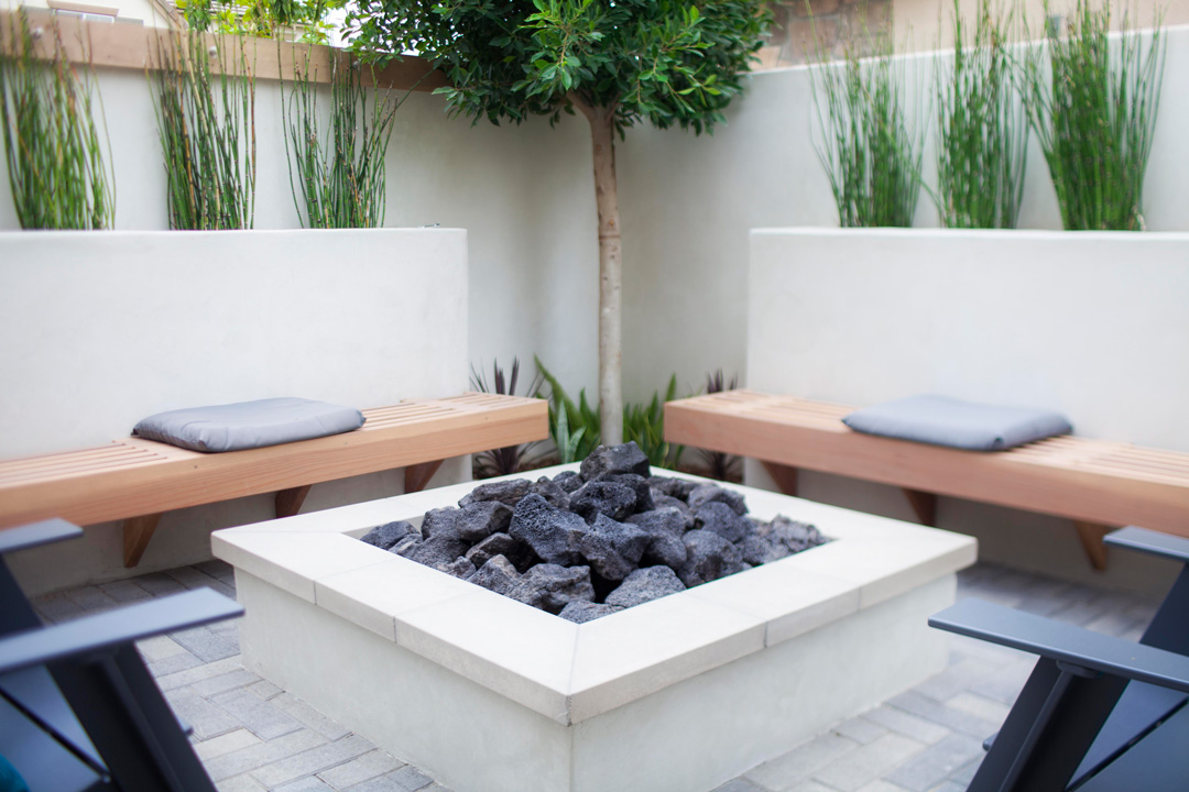 Modern landscape orange county orange county landscape for Backyard patio landscaping
