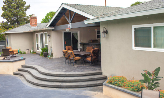 stamped concrete patio with stairs. Contemporary Patio Orange County Stamped Concrete Patio Throughout With Stairs