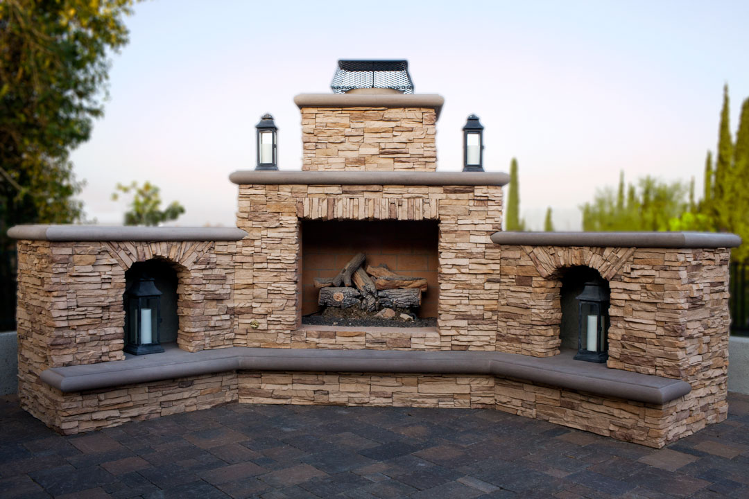Outdoor Fireplace Full Image