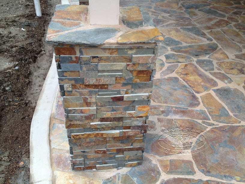 Patio Cover Pilaster Stack Stone