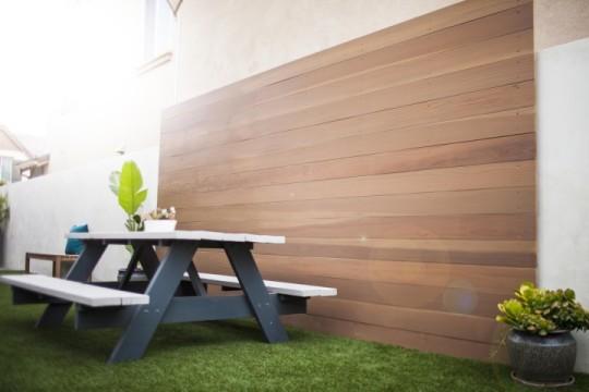 modern landscape wood fence wall