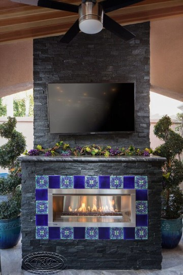Orange County Outdoor Fireplace