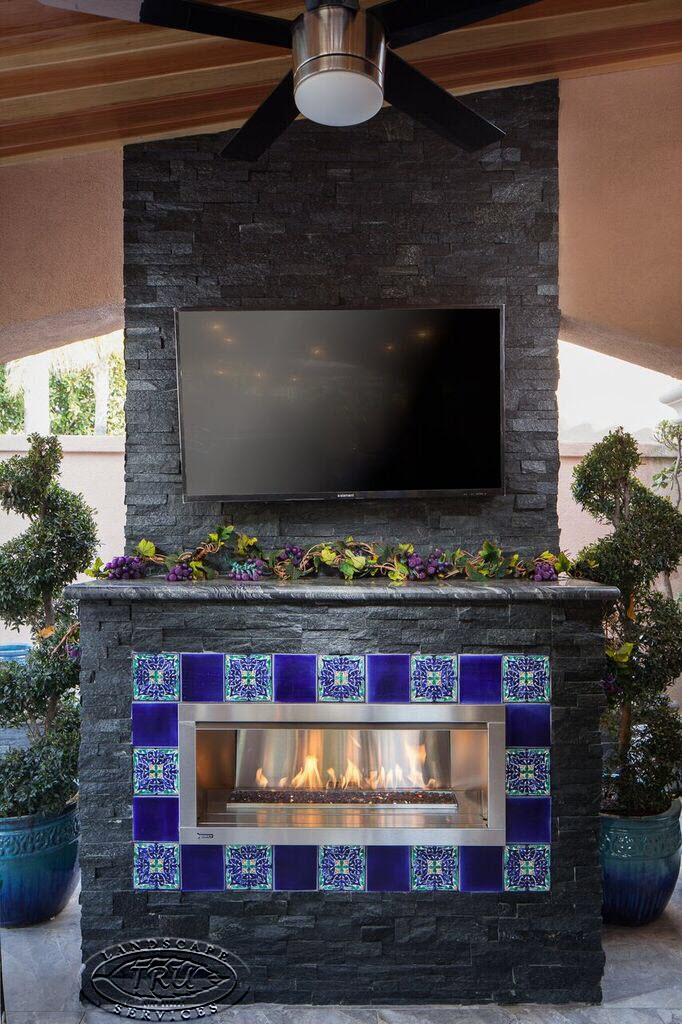 fireplace orange county. Orange County Outdoor Fireplace  Landscape